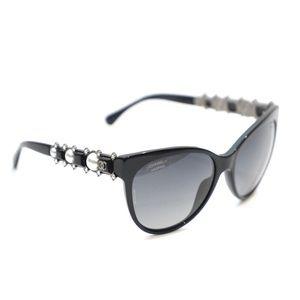 Chanel Bijoux Pearl Cat Eye Sunglasses